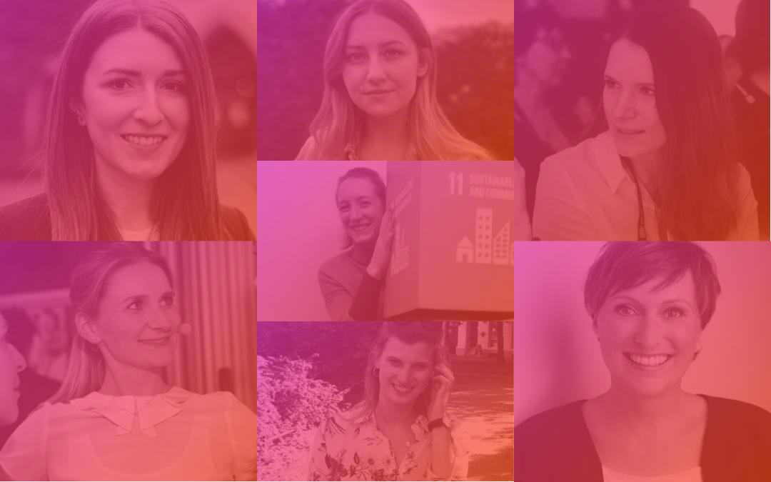 Collage der Powerfrauen bei DB Intrapreneurs